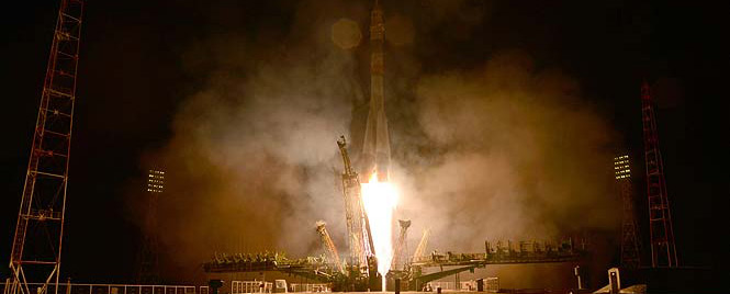 Spaceship Soyuz came to a settlement orbit