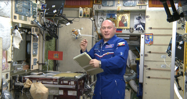 Космонавт Олег Артемьев принял участие в акции «Тотальный диктант»