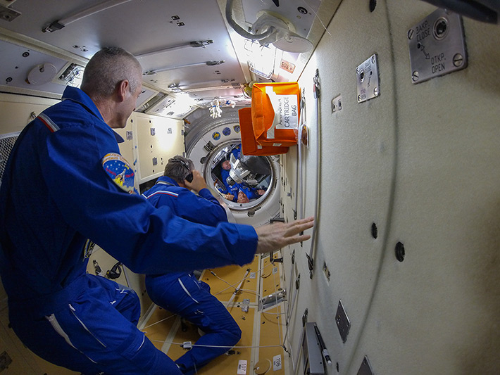 The Hatch Opening of the Soyuz TMA-13M,