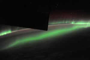 Полярное сияние на южном полюсе