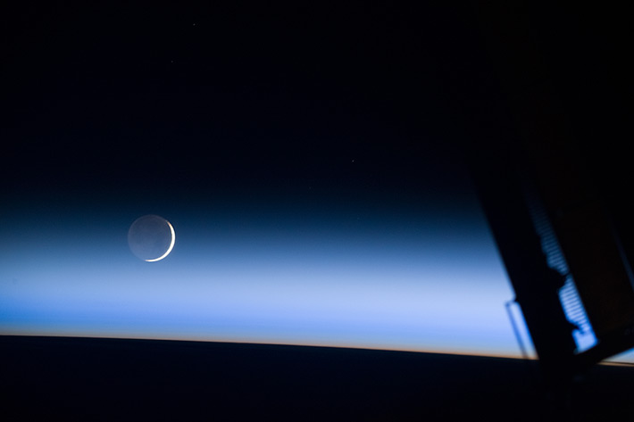 The Moonset on ISS