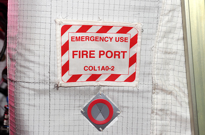 Signs on ISS. Fire Port.