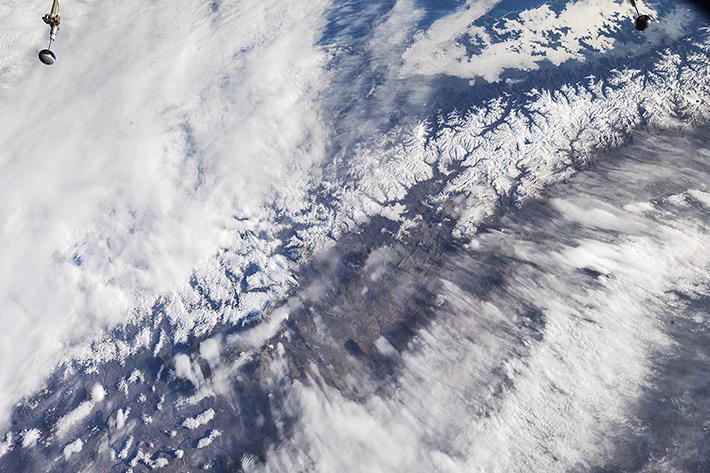 Анды на границе Чили и Аргентины (в районе провинций Мендоса и Неукен)