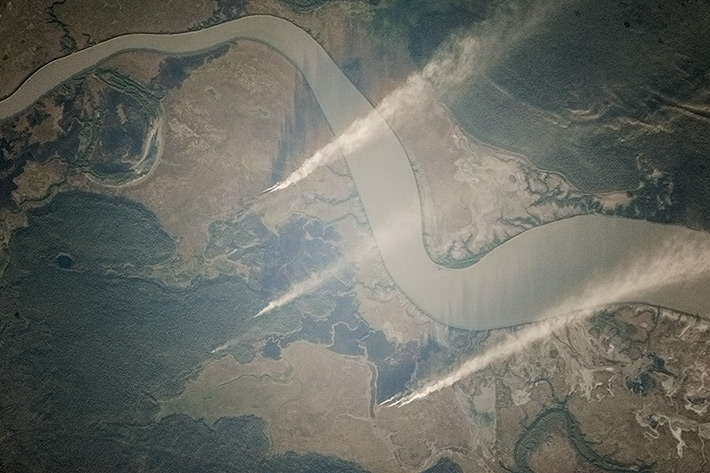 Лесные пожары в Австралии, Национальный парк Какаду, река Саут-Аллигейтор