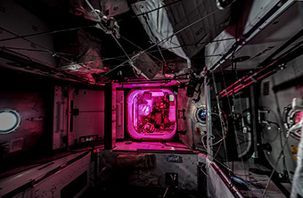 Night on ISS
