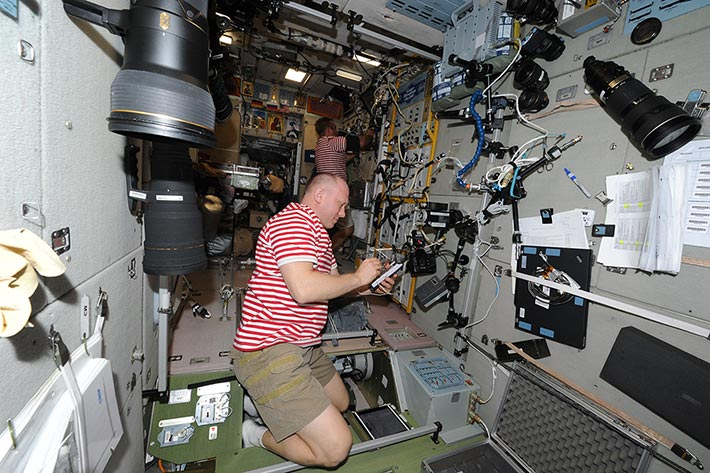 Работа на МКС. Работают космические матросы