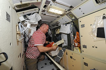 Preparations for the spacewalk continue.