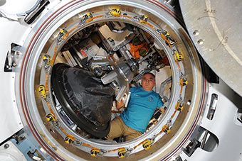 Before closing of the Progress hatch