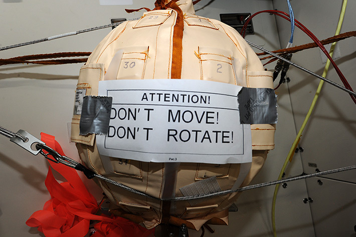 Signs on ISS. Signs on Matreshka (Experiment Matreshka). She is now in the Japanese module