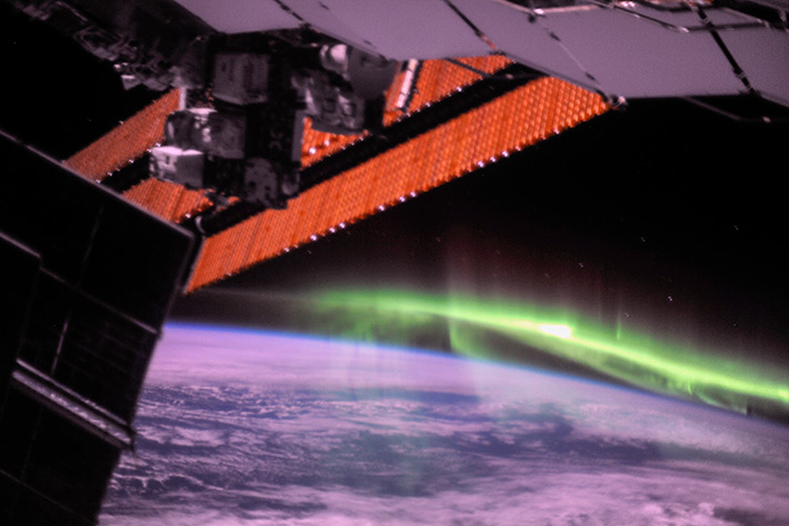 Aurora over the South Pole