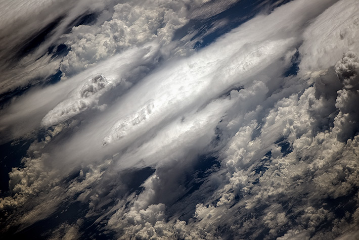 Clouds over the Pacific Ocean