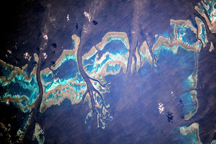 Коралловые рифы у восточных берегов Австралии