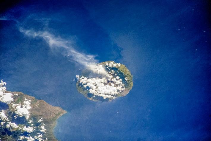 Indonesia's Volcanoes - Sangeang Api smokes