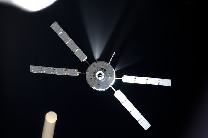 August 12. Docking ATV5 to ISS