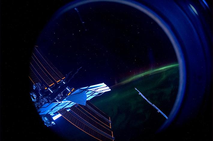 The Stars... ISS... Aurora...