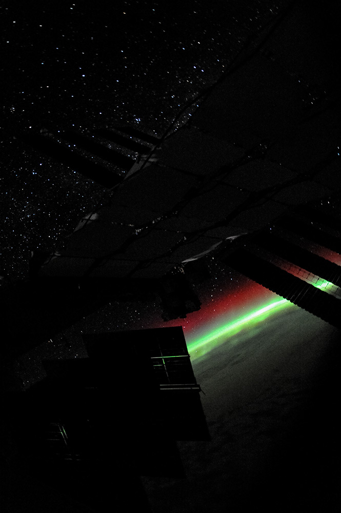 The Stars… ISS… Aurora…