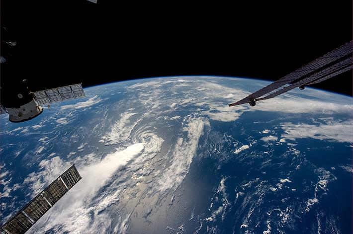 The Earth... The Blue Ocean...