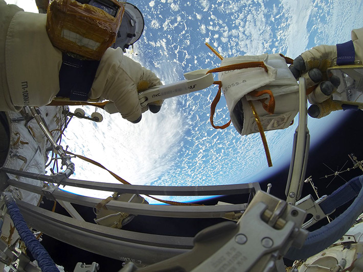 Russian Spacewalk (EVA-39). August 18, 2014
