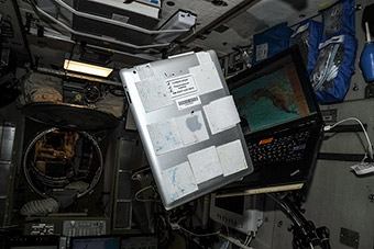 One of the first iPad on ISS