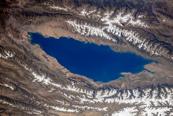 Earth Paints - Lake Issyk Kul in the Kyrgyzstan
