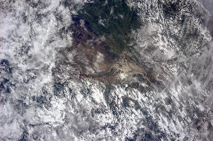 Где-то над севером Южной Америки