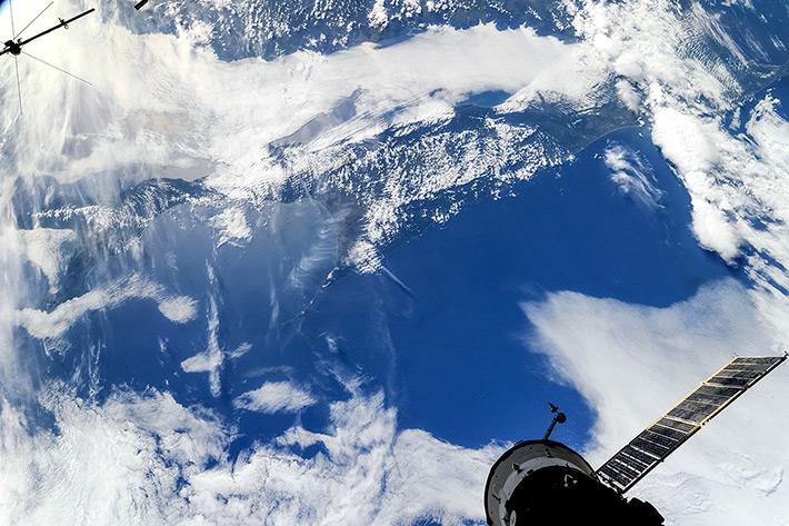 Sakhalin Island under Clouds