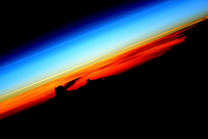 Sunset at ISS