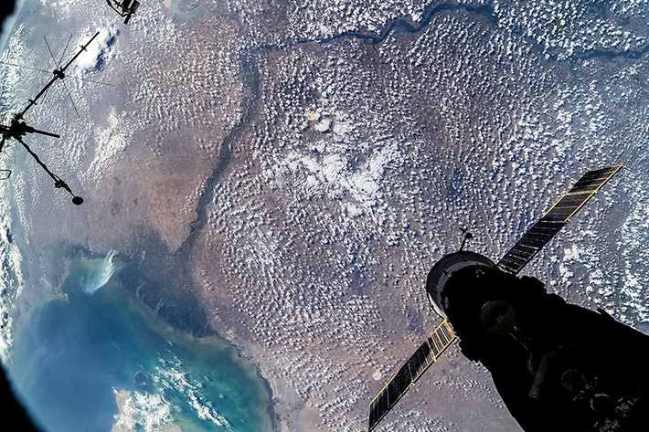 The Northern Caspian Sea and the Volga Delta