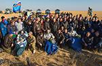 Приземление и встреча 40-й экспедиции га МКС