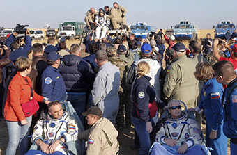 The Soyuz TMA-12M 40th Expedition Landing