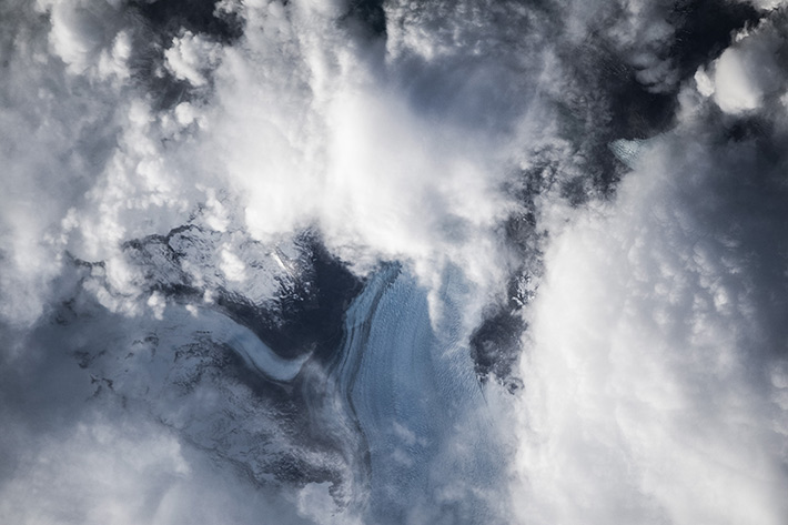 South American Glaciers under the Clouds