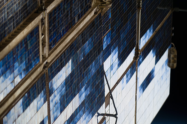 ISS Solar Panels Pattern
