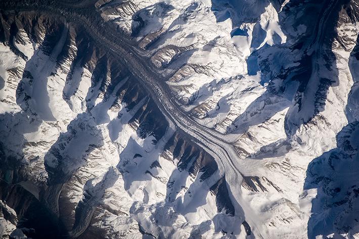 Ледники в горах Памира