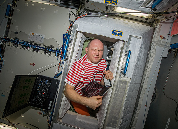Morning on the ISS