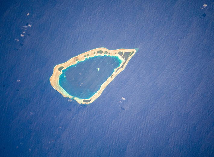 Lae Atoll in the Pacific Ocean