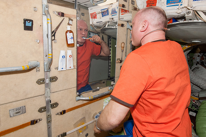 Tooth Brushing in Space