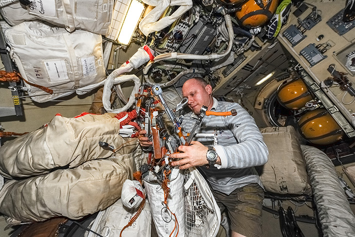 Cleaning after Spacewalk