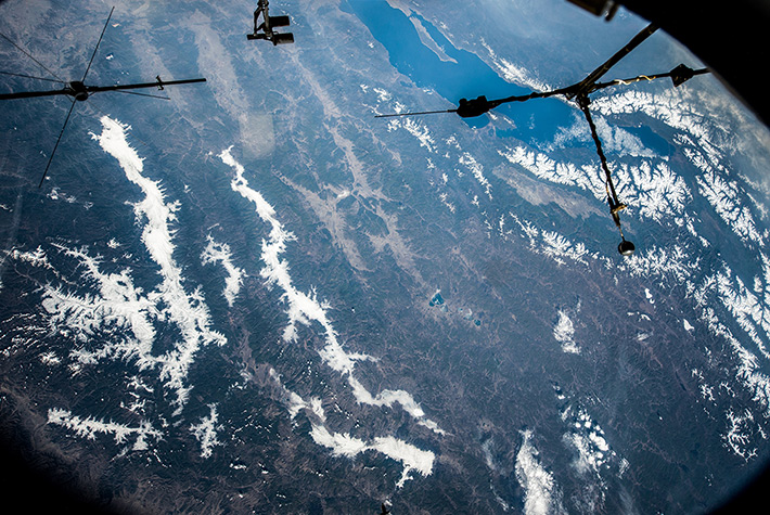 Over Baikal Lake and Buryatia