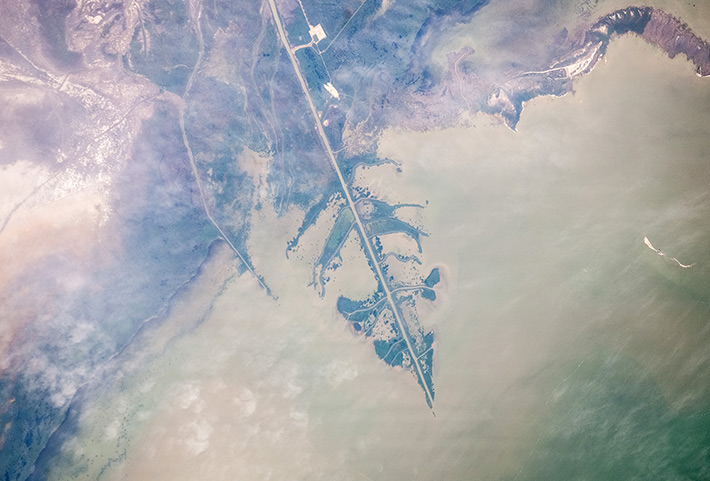Delta of the Ural in the Caspian Sea