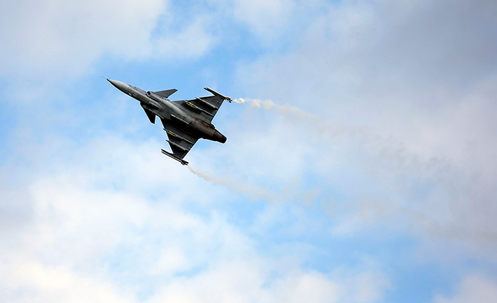 Airshow in the Territory of SAAB