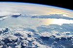 Закат над западным побережьем Северное Америки