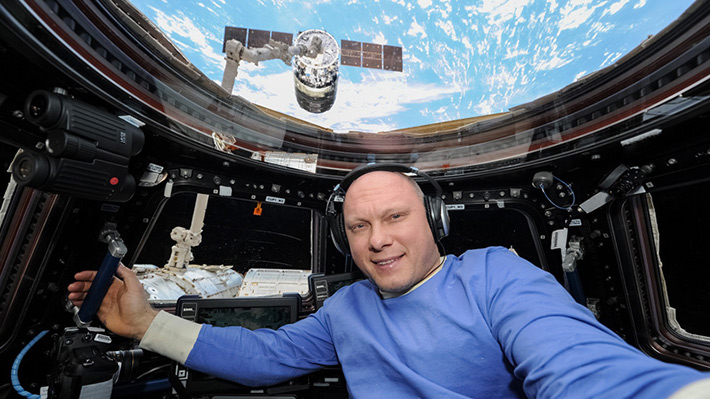 """Lecture """"Life on ISS"""" on radio """"Silver rain"""", December 9, 2015"""