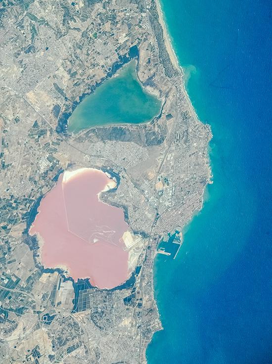 Spain. Torrevieja Area's Salt Lakes.
