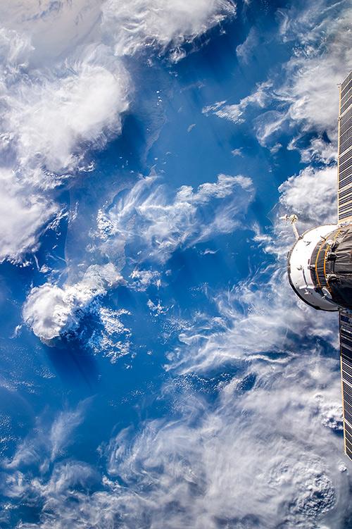 Облака над Калифорнийским полуостровом