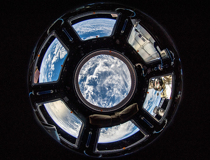 Photographing Earth from the Cupola on the ISS
