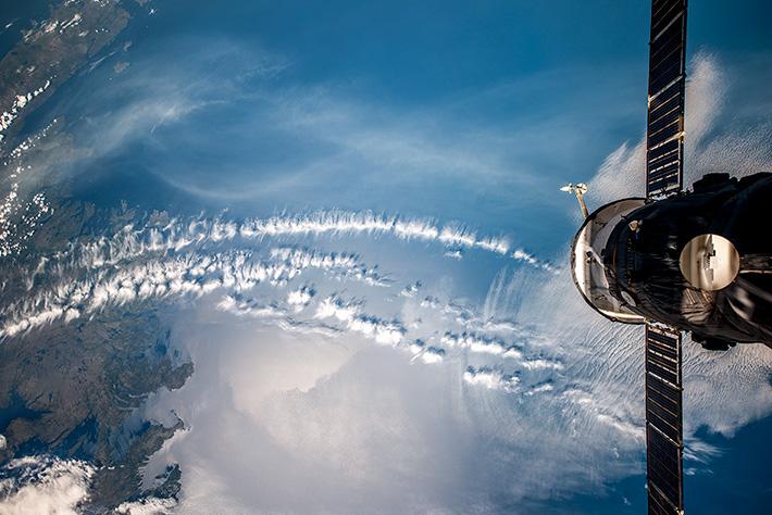 Облака у берегов острова Ньюфаундленд