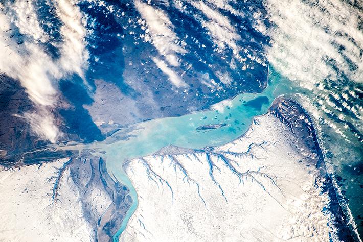 Зимняя дельта реки Санта Крус, Аргентина
