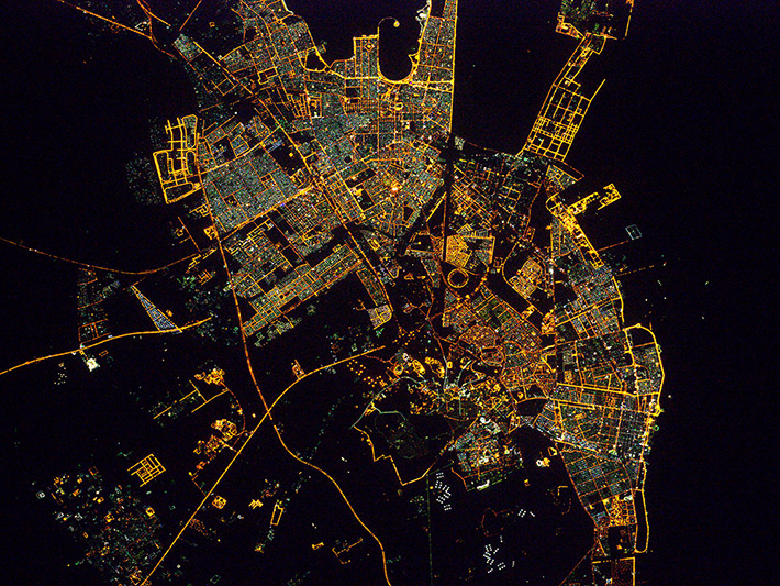 Ночной Эд-Даммам, Саудовская Аравия
