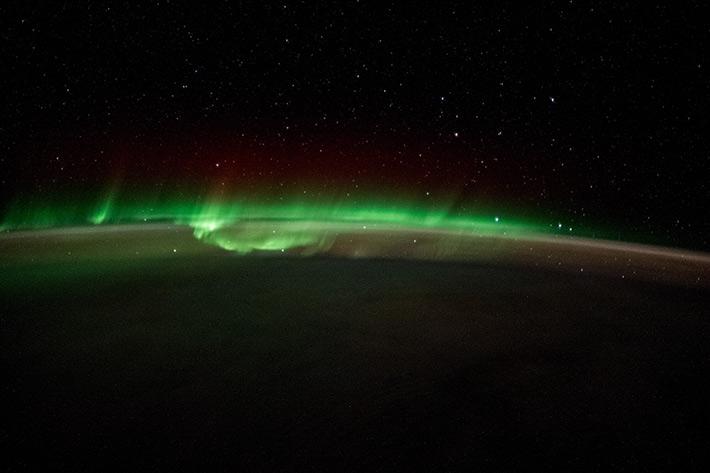 Aurora over the South Pole