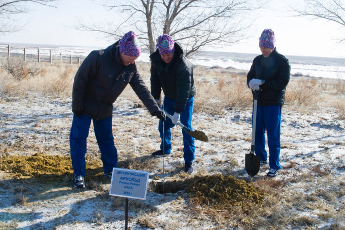 Tree Planting Tradition of the Cosmonauts Continues with Space Station Mission